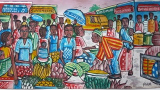 Bourkina Faso market art.